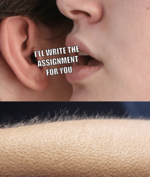 You, For, and Assignment: I'LL WRITE THE  ASSIGNMENT  FOR YOU