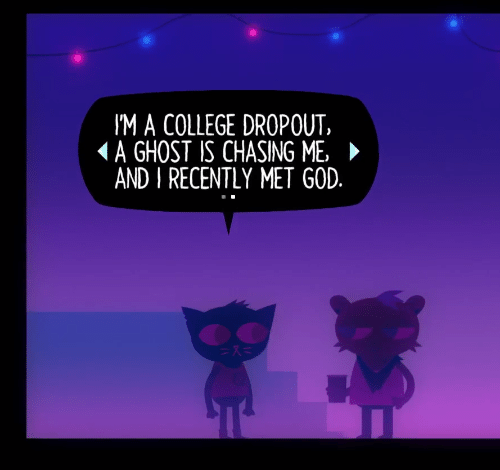 chasing: I'M A COLLEGE DROPOUT,  (A GHOST IS CHASING ME. ►  AND I RECENTLY MET GOD.