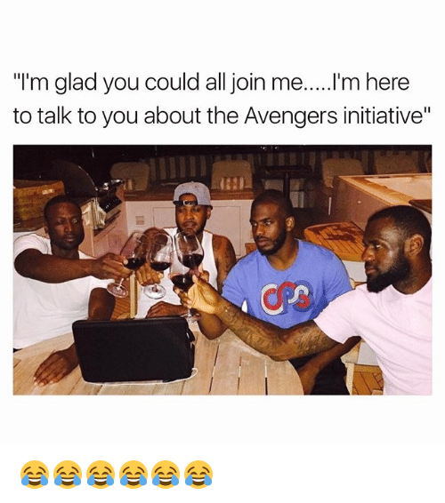 "Gladded: ""I'm glad you could all join me.....I'm here  to talk to you about the Avengers initiative"" 😂😂😂😂😂😂"