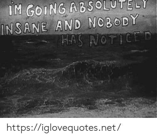 Net, Href, and Insane: IM GOING ABSOLUTELY  INSANE AND NOBODY  HAS NOTICED https://iglovequotes.net/