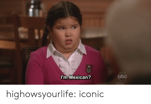Im Mexican: I'm Mexican? highowsyourlife:  iconic