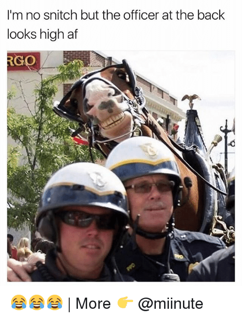 No Snitching: I'm no snitch but the officer at the back  looks high af  RC  GO 😂😂😂 | More 👉 @miinute