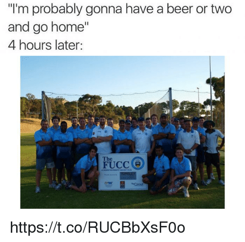 """Beer, Home, and Go Home: """"I'm probably gonna have a beer or two  and go home""""  4 hours later:  The https://t.co/RUCBbXsF0o"""