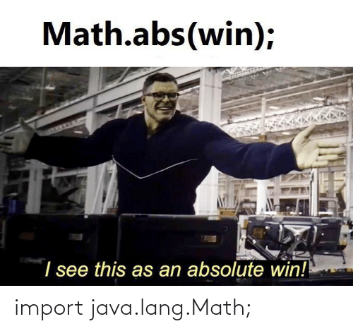 import: import java.lang.Math;