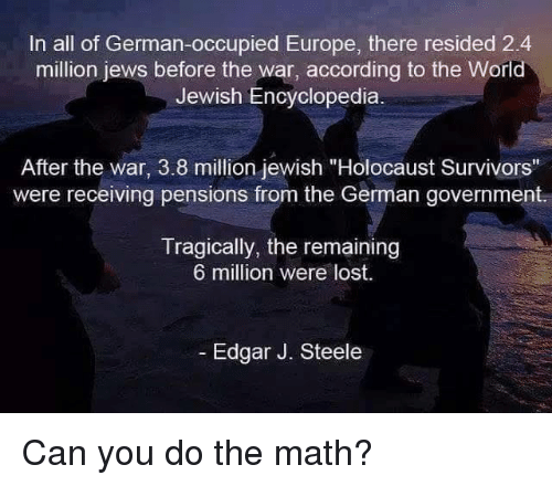 Image result for 2,4 million JEWS IN EUROPE