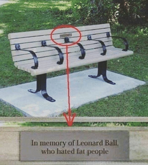 Leonard: In memory of Leonard Ball  who hated fat people