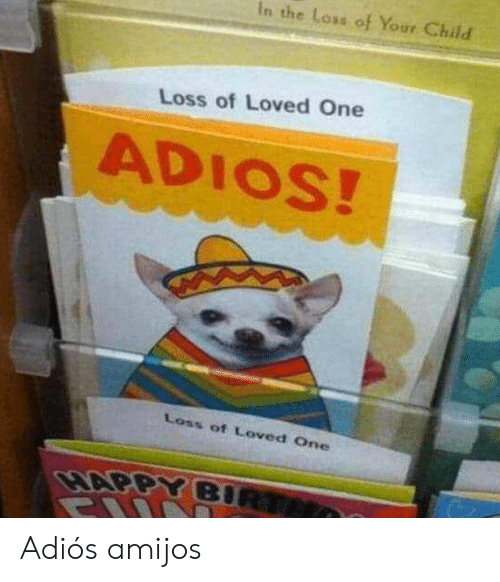 One, Child, and Adios: In the Loss of Your Child  Loss of Loved One  ADIOS!  Loss of Loved One Adiós amijos