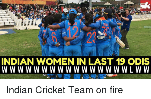 indian cricket: INDIAN WOMEN IN LAST 19 ODIS Indian Cricket Team on fire