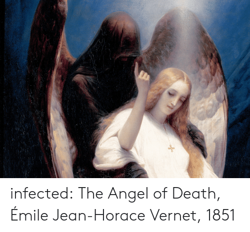 Tumblr, Angel, and Blog: infected:  The Angel of Death, Émile Jean-Horace Vernet, 1851