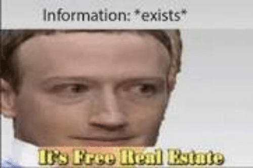 Information and Exists: Information: exists
