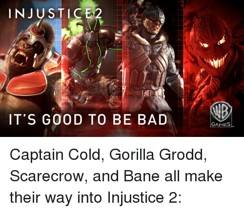 Injustice Its Good To Be Bad Games Captain Cold Gorilla Grodd