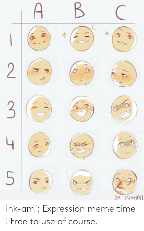 Course: ink-ami: Expression meme time ! Free to use of course.