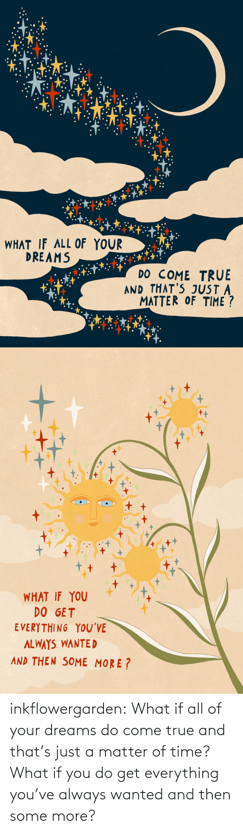 A Matter: inkflowergarden: What if all of your dreams do come true and that's just a matter of time? What if you do get everything you've always wanted and then some more?