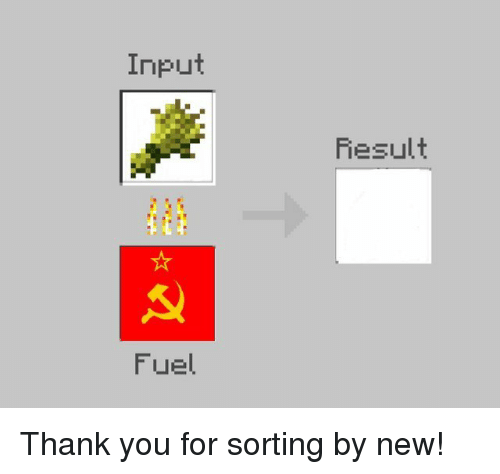 Thank You, Fuel, and New: Input  Result  Fuel Thank you for sorting by new!
