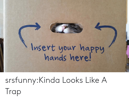 A Trap: Insert your happy  hands here! srsfunny:Kinda Looks Like A Trap
