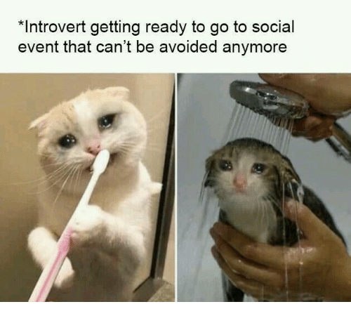Getting Ready: *Introvert getting ready to go to social  event that can't be avoided anymore