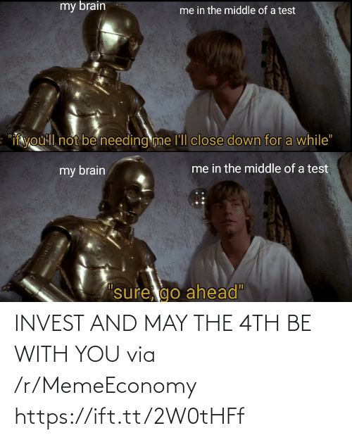 with you: INVEST AND MAY THE 4TH BE WITH YOU via /r/MemeEconomy https://ift.tt/2W0tHFf