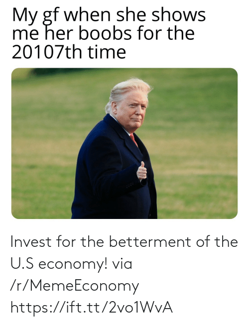 U S: Invest for the betterment of the U.S economy! via /r/MemeEconomy https://ift.tt/2vo1WvA