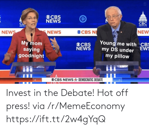 Memeeconomy: Invest in the Debate! Hot off press! via /r/MemeEconomy https://ift.tt/2w4gYqQ