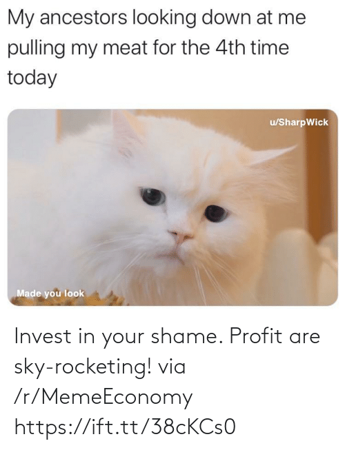 R Memeeconomy: Invest in your shame. Profit are sky-rocketing! via /r/MemeEconomy https://ift.tt/38cKCs0