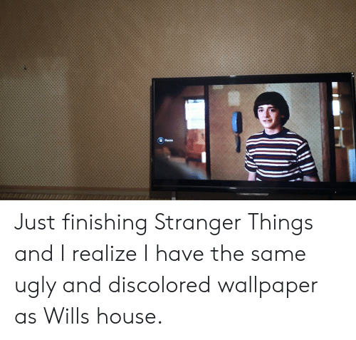 Ugly, House, and Wallpaper: IPausa Just finishing Stranger Things and I realize I have the same ugly and discolored wallpaper as Wills house.