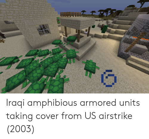 Iraqi, Armored, and Units: Iraqi amphibious armored units taking cover from US airstrike (2003)