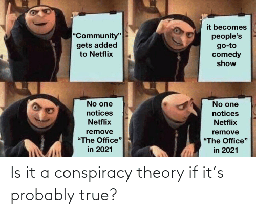 Conspiracy Theory: Is it a conspiracy theory if it's probably true?