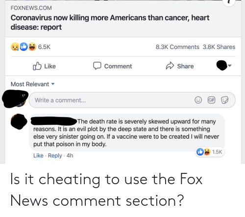 The Fox: Is it cheating to use the Fox News comment section?