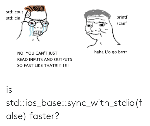 faster: is std::ios_base::sync_with_stdio(false) faster?