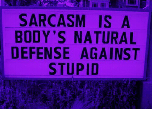 Sarcasm, Isi, and Stupid: isi ii  SARCASM IS A  BODY'S NATURAL  DEFENSE AGAINST  STUPID