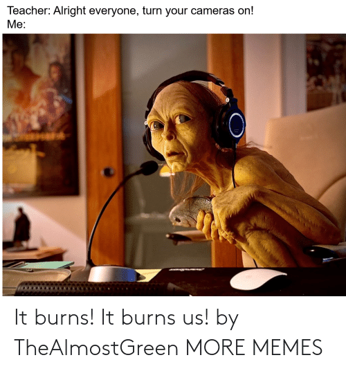 Burns: It burns! It burns us! by TheAlmostGreen MORE MEMES