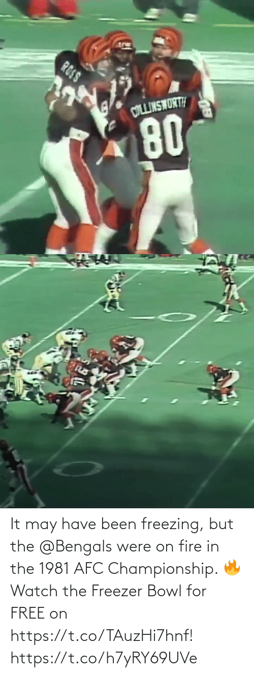 Championship: It may have been freezing, but the @Bengals were on fire in the 1981 AFC Championship. 🔥  Watch the Freezer Bowl for FREE on https://t.co/TAuzHi7hnf! https://t.co/h7yRY69UVe
