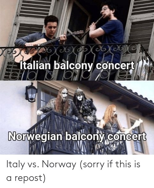 Sorry: Italy vs. Norway (sorry if this is a repost)