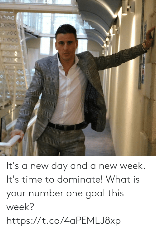 What Is: It's a new day and a new week. It's time to dominate! What is your number one goal this week? https://t.co/4aPEMLJ8xp