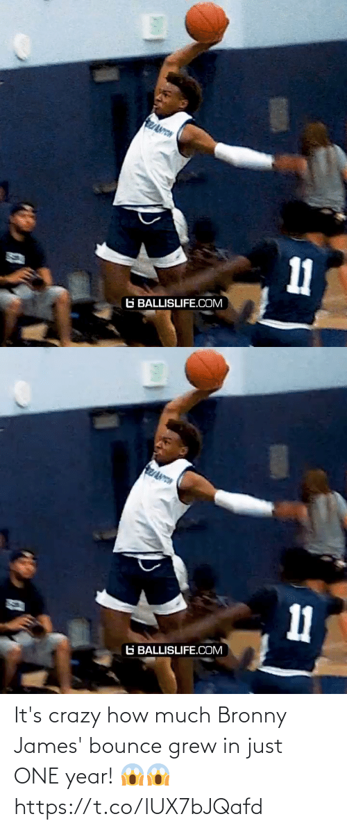 How Much: It's crazy how much Bronny James' bounce grew in just ONE year! 😱😱 https://t.co/lUX7bJQafd