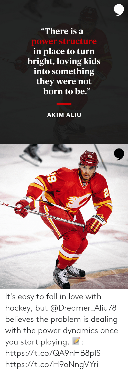 playing: It's easy to fall in love with hockey, but @Dreamer_Aliu78 believes the problem is dealing with the power dynamics once you start playing.   📝: https://t.co/QA9nHB8plS https://t.co/H9oNngVYri