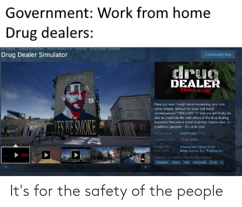 Safety: It's for the safety of the people