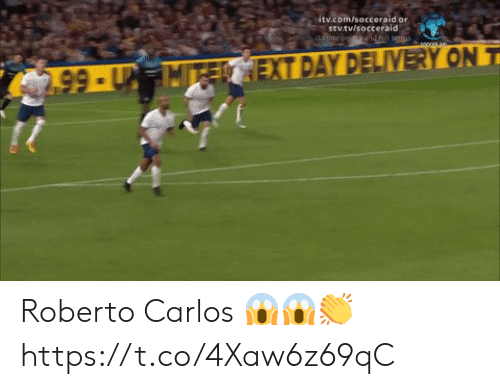 carlos: itv.com/socceraid or  stv.tv/socceraid  dopte coendt teus  2.99-UMTECEXT DAY DELIVERY ON T Roberto Carlos 😱😱👏 https://t.co/4Xaw6z69qC