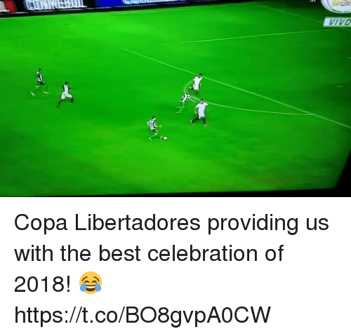 Soccer, Best, and Copa Libertadores: IVO Copa Libertadores providing us with the best celebration of 2018! 😂https://t.co/BO8gvpA0CW