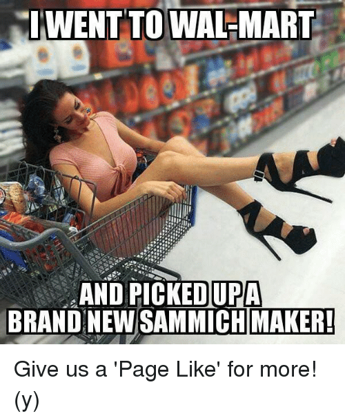 sammich: IWENT TO WAL-MART  AND PICKED UPA  BRAND NEW SAMMICH MAKER! Give us a 'Page Like' for more! (y)