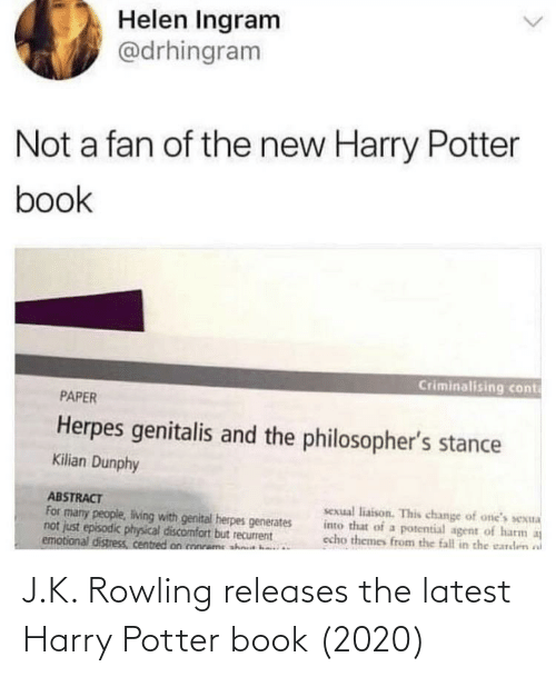 rowling: J.K. Rowling releases the latest Harry Potter book (2020)