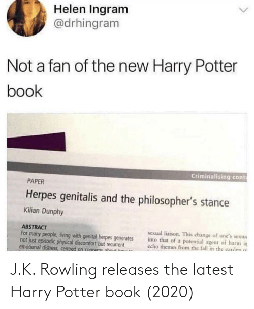potter: J.K. Rowling releases the latest Harry Potter book (2020)
