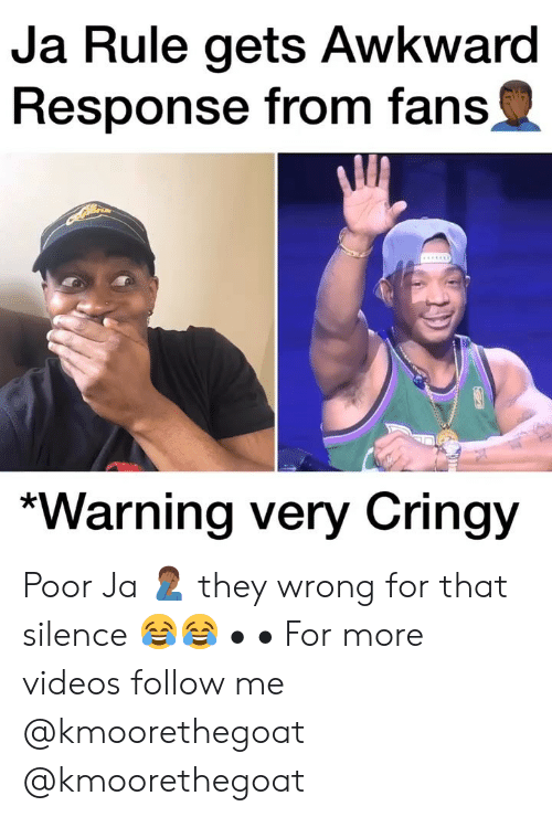 Cringy: Ja Rule gets Awkward  Response from fans  *Warning very Cringy Poor Ja 🤦🏾♂️ they wrong for that silence 😂😂 • • For more videos follow me @kmoorethegoat @kmoorethegoat