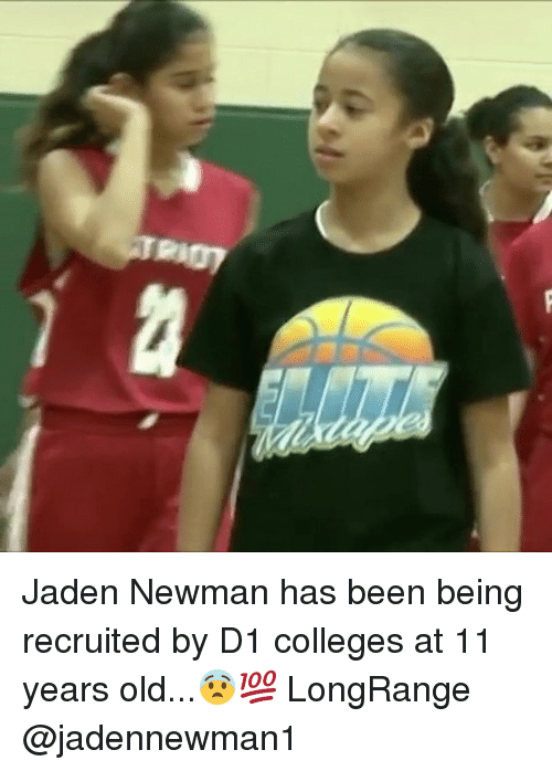 Newman: Jaden Newman has been being recruited by D1 colleges at 11 years old...😨💯 LongRange @jadennewman1