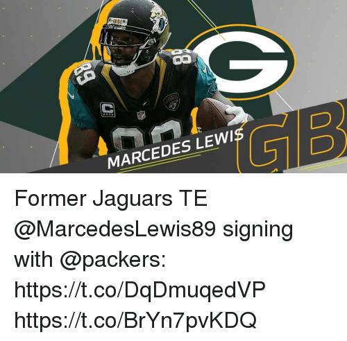 gib: JAGS  5  GIB  MARCEDES LEWIS Former Jaguars TE @MarcedesLewis89 signing with @packers: https://t.co/DqDmuqedVP https://t.co/BrYn7pvKDQ