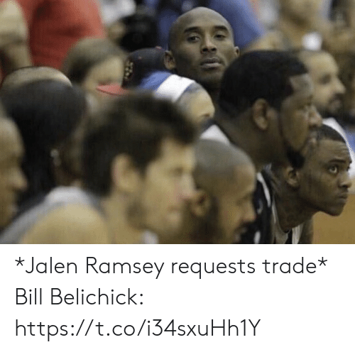 Bill Belichick, Football, and Nfl: *Jalen Ramsey requests trade*  Bill Belichick: https://t.co/i34sxuHh1Y