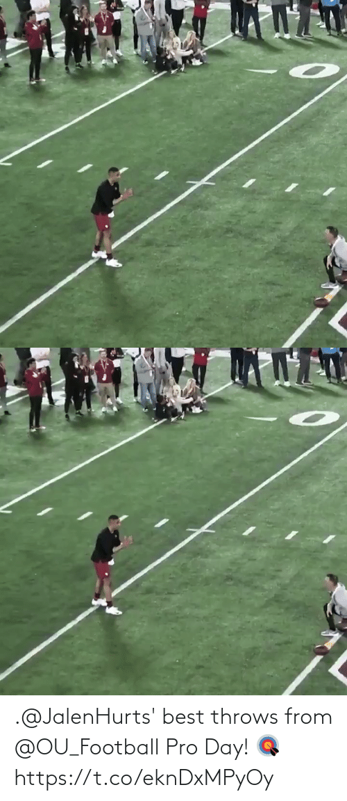 Pro: .@JalenHurts' best throws from @OU_Football Pro Day! 🎯 https://t.co/eknDxMPyOy