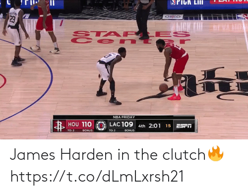 James Harden: James Harden in the clutch🔥 https://t.co/dLmLxrsh21