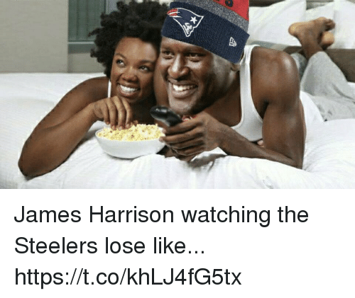 Football, Nfl, and Sports: James Harrison watching the Steelers lose like... https://t.co/khLJ4fG5tx