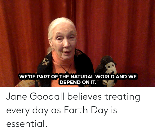 Youtu: Jane Goodall believes treating every day as Earth Day is essential.
